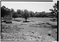 May 1958 GENERAL VIEW FROM NORTHWEST - Fort Frederica, Barracks (Ruins), Saint Simons Island, Glynn County, GA HABS GA,64-FRED,1-4.tif
