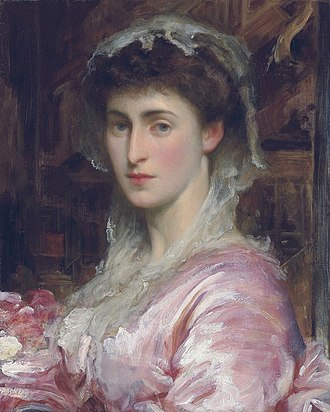 Adelaide Kemble - Portrait of her daughter May Sartoris by Frederic Leighton c1870