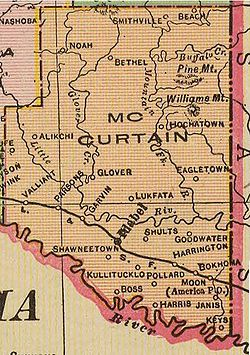McCurtain County Oklahoma Wikipedia - Counties of oklahoma map