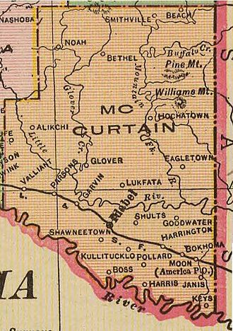 McCurtain County, Oklahoma - Map of McCurtain County, 1909