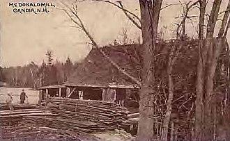 Candia, New Hampshire - Image: Mc Donald Mill in Candia, NH