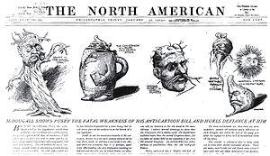 Walt McDougall - Image: Mc Dougall Anti cartoon bill cartoon 1903 01 30