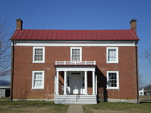 National Register of Historic Places listings in Highland County, Virginia - Image: Mc Dowell Mansion Hous (G W Hull House) now the Highland County Museum