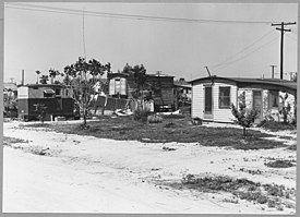 McFarland, Kern County, California. Homes in McFarland shacktown. - NARA - 521686.jpg