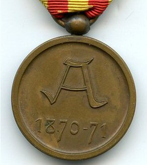 1870–71 Commemorative Medal - Image: Medaille Commemorative 1870 71 Belgique revers