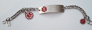 Medical identification tag - A medical alert bracelet