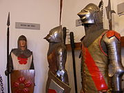 Medieval armours, Marksburg, Rhine Valley, Germany