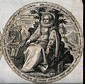 Melpomene. Engraving by C. de Passe. Wellcome V0048191.jpg