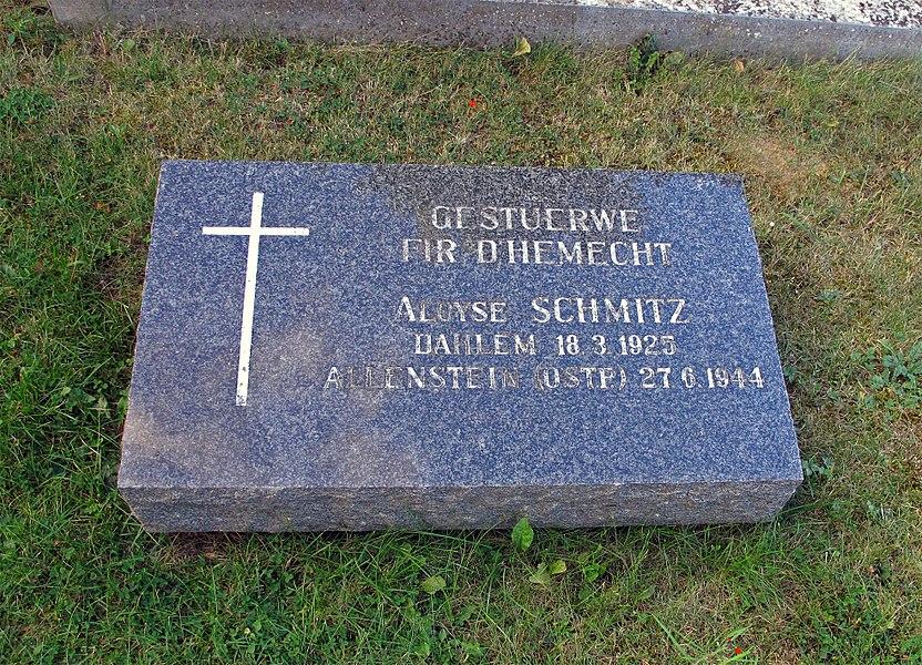 War memorial WWII, Monument du Souvenir, Dahlem, Luxembourg