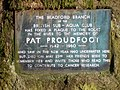 Memorial Plate to Pat Proudfoot - geograph.org.uk - 467706.jpg