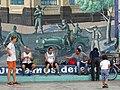 Men at Play with Mural - Leon - Nicaragua (30776611813).jpg