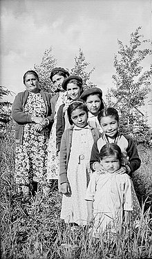 Merasty women and girls - Cree - The Pas Manitoba 1942.jpg