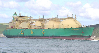 LNG carrier tank ship designed for transporting liquefied natural gas