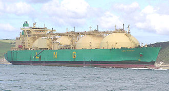 LNG carrier - LNG Rivers, a Moss-type carrier with a capacity of 135,000 cubic metres