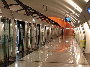 Olympiades (Paris Métro) - Image: Metro Paris Ligne 14 station Olympiades 05
