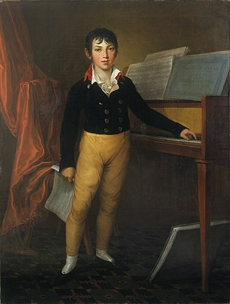 Giacomo Meyerbeer - The young Jacob Beer, portrait by Friedrich Georg Weitsch (1803)