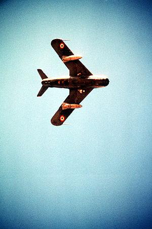 Fighter aircraft - MiG-17 underside