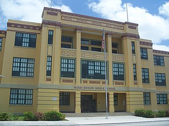 Little Haiti - Historic Miami Edison Middle School in Edison.