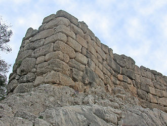 Cyclops - Cyclopean walls at Mycenae.
