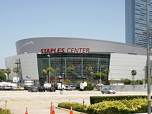 Michael Jackson memorial service - Held at the Staples Center, where Michael Jackson rehearsed on June 24, 2009 (one day before his death).