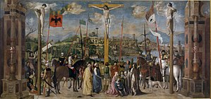 Michele da Verona - Crucifixion (circa 1500), Brera Museum