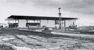 Midway station (Minnesota) - Midway station construction, October 1977
