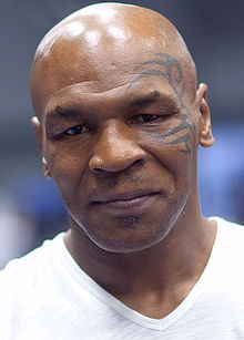 Mike Tyson - the hautain, arrogant, tough,  boxer  with Afro-American, Jamaican,  roots in 2019