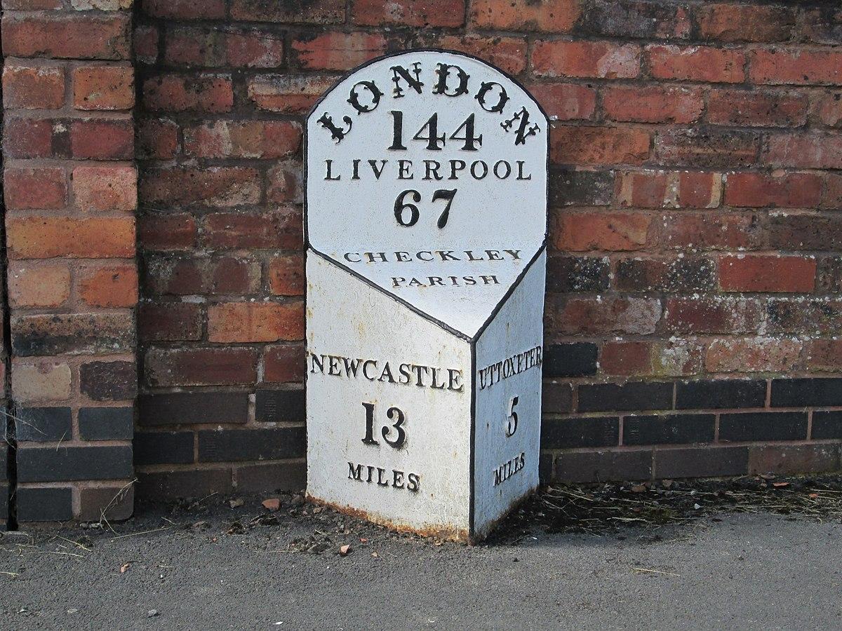 Milepost at Checkley.jpg