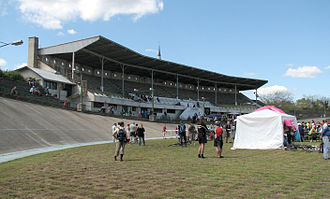 Millenáris Sporttelep - Grandstand of the velodrome