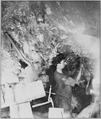 Miner working inside the Comstock Mine, Virginia City, Nev. Taken by O'Sullivan using the glare of burning magnesium for - NARA - 519527.tif