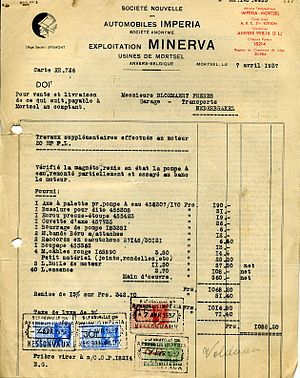 invoice between the plant Minerva and customer...
