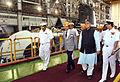 Minister of Defence Arun Jaitley reviewing the construction of Scorpene class submarines at Mazagaon Dock Mumbai 1.jpg