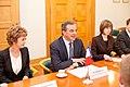 Ministru prezidents Valdis Dombrovskis tiekas ar Francijas satiksmes ministru Tjerī Mariāni (6748210045).jpg