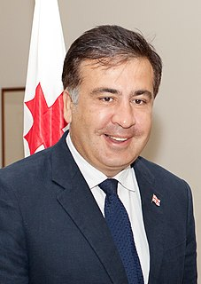 Mikheil Saakashvili Georgian-Ukrainian politician, former President of Georgia and former Governor of Odessa