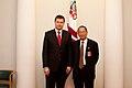 """Ministru prezidents Valdis Dombrovskis tiekas ar pasaules vadošo telekomunikāciju risinājumu ražotāja """"Huawei Technologies Investment"""" vadību (6429645859).jpg"""