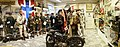 Misc. German, Norwegian, French, British uniforms-weapons-equipment, NSU motorbike, Gestapo, flags, signs, rare objects etc. Lofoten Krigminnemuseum (WW2 Memorial Museum) Svolvær, Norway. Distorted panorama 2019-05-08 DSC09861.jpg
