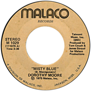 Misty Blue - Image: Misty Blue by Dorothy Moore US vinyl single