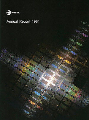 Hans Blohm - HLB's photo appearing on the cover of Mitel's 1981 Annual report.