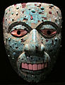 Mixtechi-aztechi, maschera con mosaico in turchese, 1400-1521 circa.JPG