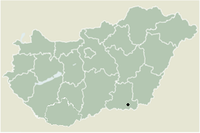 Location in Csongrád County, Hungary