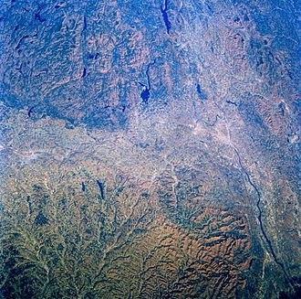 Mohawk Valley region - Image of the Mohawk and Hudson valleys from Space Shuttle Challenger.