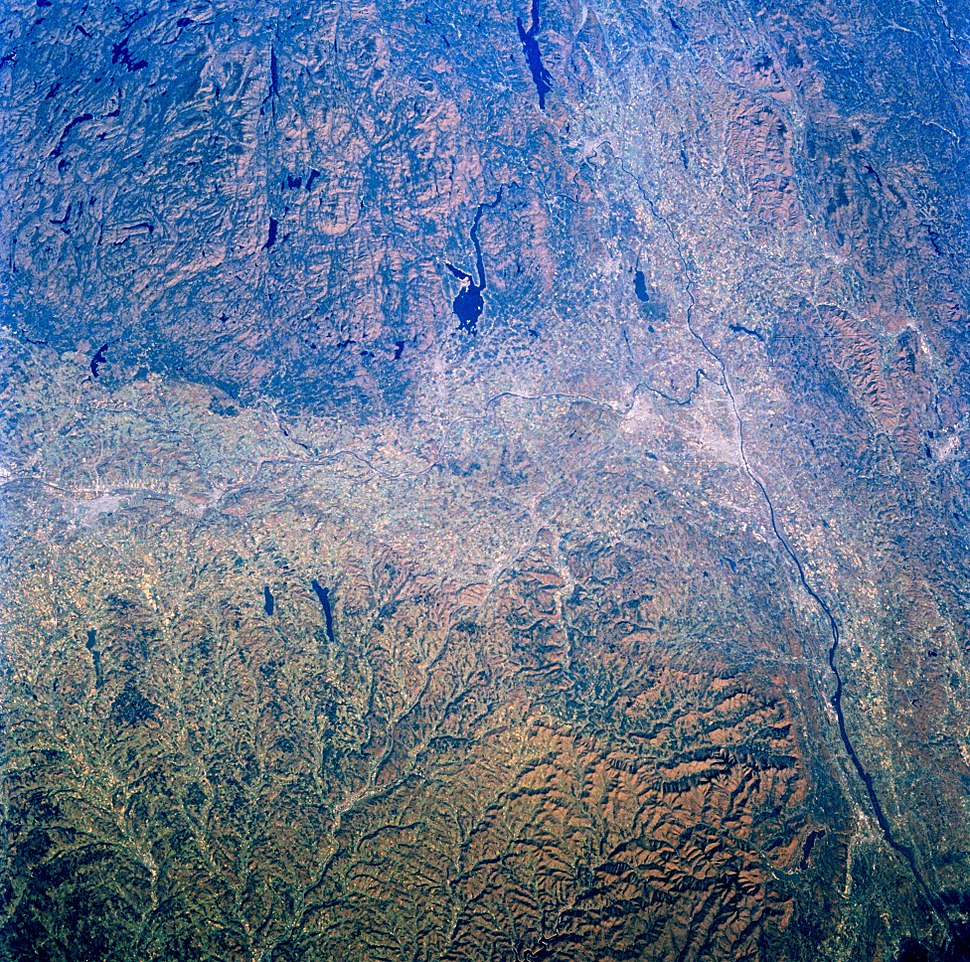 Mohawk Hudson Valley from space