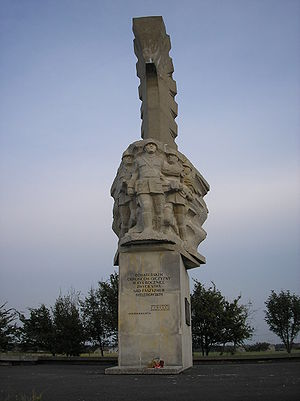 Wołyńska Cavalry Brigade - Monument to the Volhynian Cavalry Brigade in Mokra