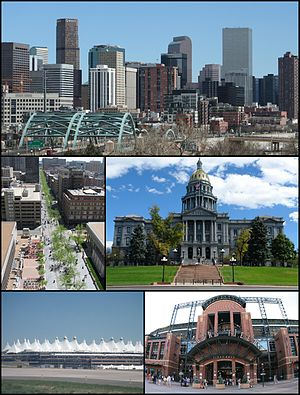 Montage of Denver images. From top to bottom l...