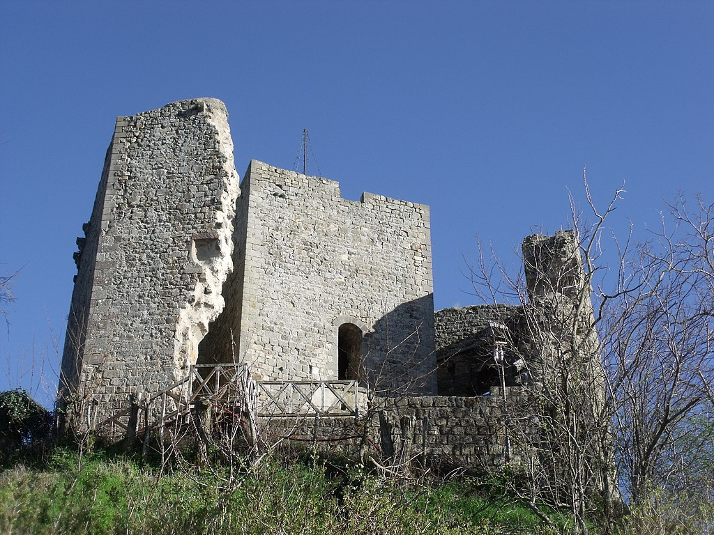 Cassero senese (Roccaccia, Rocca, Castello) in Montelaterone, frazione di Arcidosso