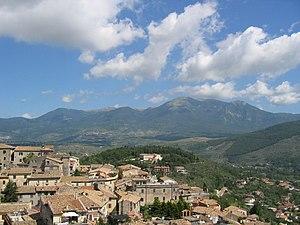 Monti Ernici - A panorama of the Monti Ernici from the Acropolis of Alatri