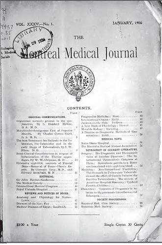 Canadian Medical Association Journal - Montreal Medical Journal, January 1906.