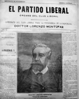 Lorenzo Montúfar y Rivera -  center