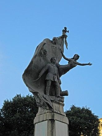Floriano Peixoto - Monument to Marshal Floriano Peixoto in Downtown Rio de Janeiro