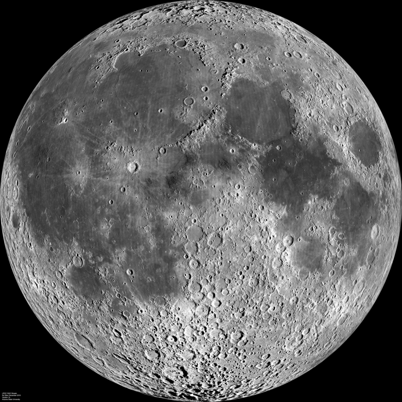 Moon Map Craters - #hos-ting